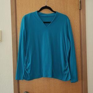 TALBOT V Neck Teal Tee Shirt Size XL